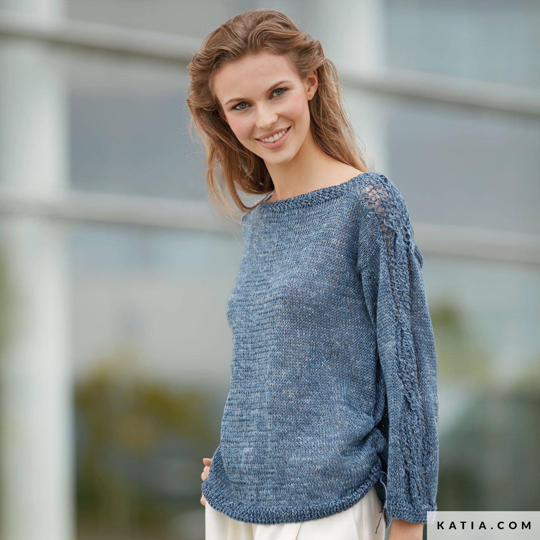 Pullover - Damen - Frühjahr / Sommer - Modelle & Anleitungen | Katia.com