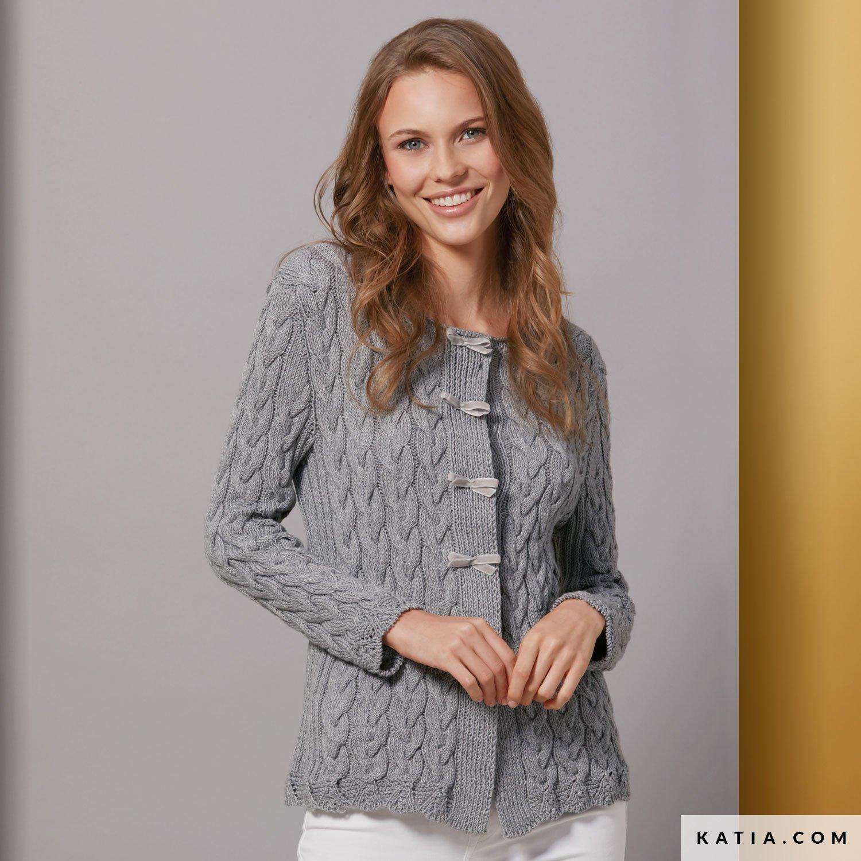 patron tricoter tricot crochet femme veste printemps ete katia 6074 10 g c60d827a338e