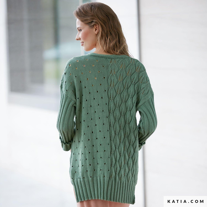 d36391a5dae41 patron tricoter tricot crochet femme veste printemps ete katia 6074 25 g