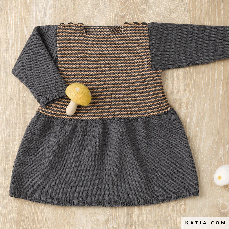 Vestido - Bebé - Otoño / Invierno - patrones | Katia.com