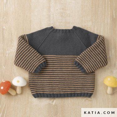 patroon breien haken baby trui herfst winter katia 6090 40 p