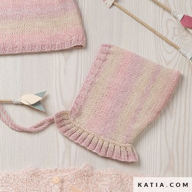 pattern knit crochet baby baby bonnet autumn winter katia 6090 30 p