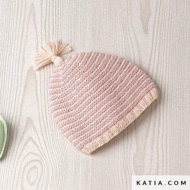 pattern knit crochet baby cap autumn winter katia 6090 26 p