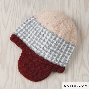 pattern knit crochet baby cap autumn winter katia 6090 47 p