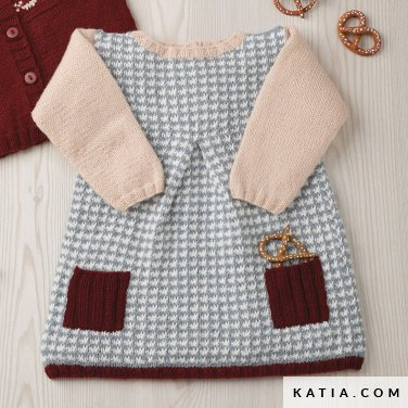 pattern knit crochet baby dress autumn winter katia 6090 46 p