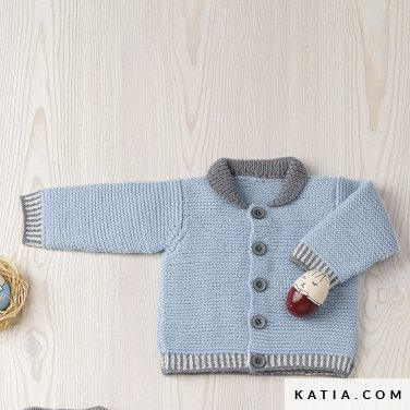 pattern knit crochet baby jacket autumn winter katia 6090 2 p