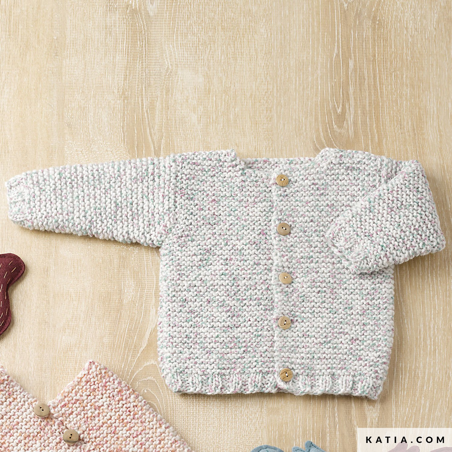 59b8b6bf726b3 pattern knit crochet baby jacket autumn winter katia 6090 23 g