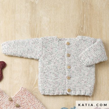 pattern knit crochet baby jacket autumn winter katia 6090 23 p