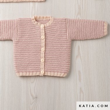pattern knit crochet baby jacket autumn winter katia 6090 28 p