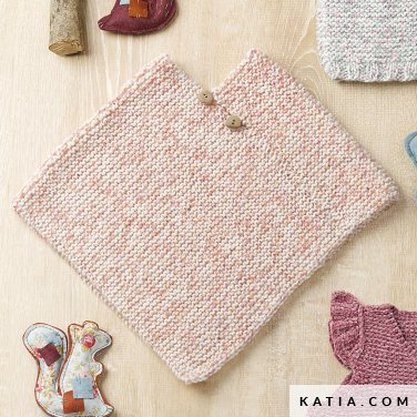 pattern knit crochet baby poncho autumn winter katia 6090 24 p