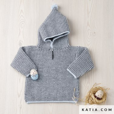 pattern knit crochet baby sweater autumn winter katia 6090 1 p