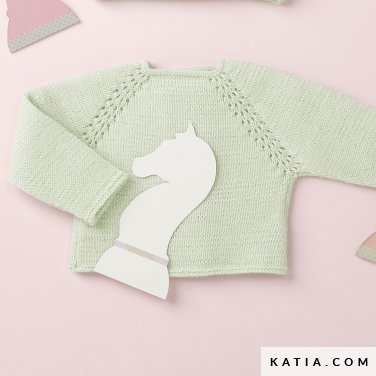pattern knit crochet baby sweater autumn winter katia 6090 12 p