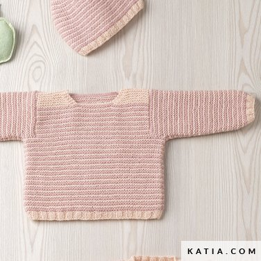 pattern knit crochet baby sweater autumn winter katia 6090 27 p