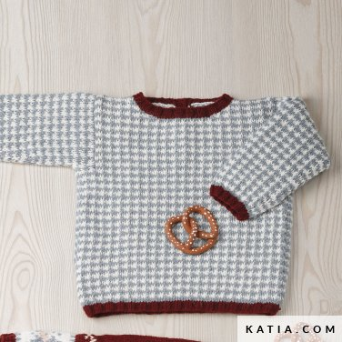 pattern knit crochet baby sweater autumn winter katia 6090 44 p