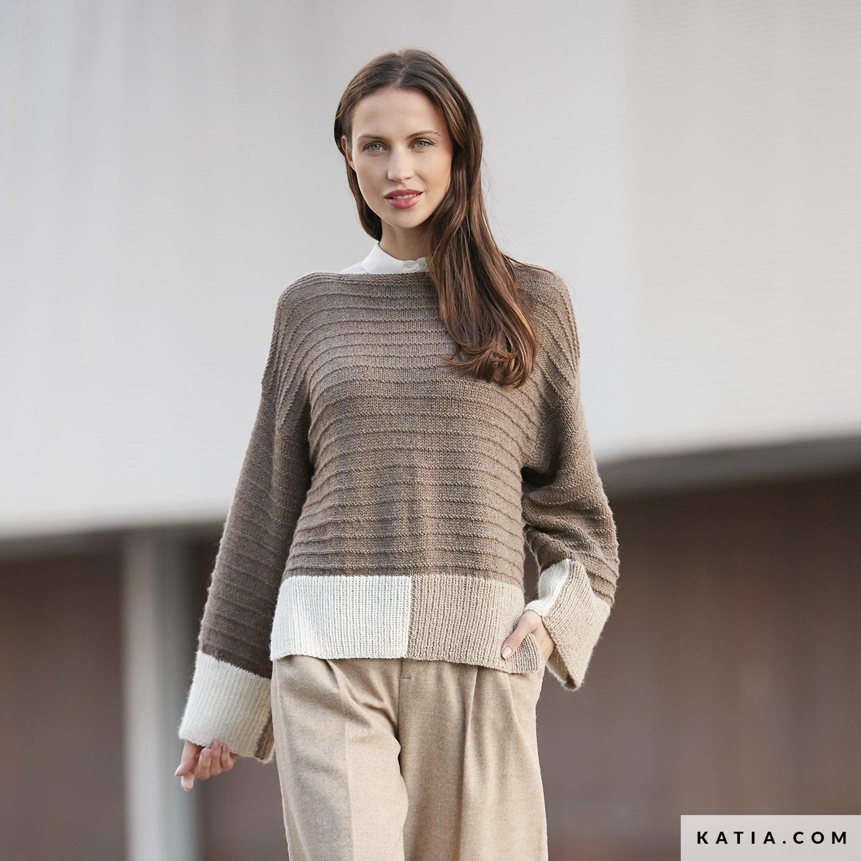 Pullover - Damen - Herbst / Winter - Modelle & Anleitungen | Katia.com