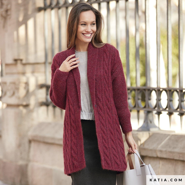 e70e8e6afcb9b patron tejer punto ganchillo mujer chaqueta otono invierno katia 6092 12 g