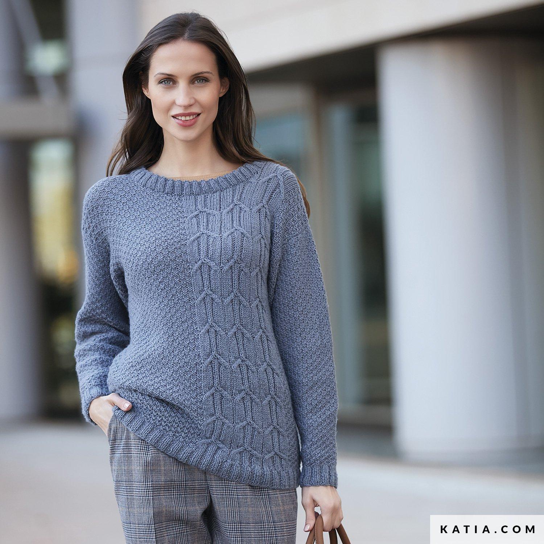 Pull - Femme - Automne / Hiver - modèles & patrons | Katia.com