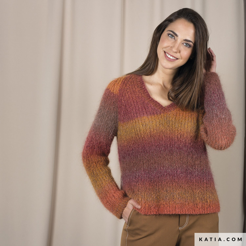52869704d6bf8 patron tricoter tricot crochet femme pull automne hiver katia 6092 44 g