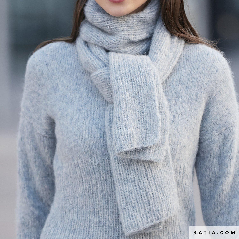 Magnifiek Sjaal - Dames - Herfst / Winter - modellen & patronen | Katia.com #UU33