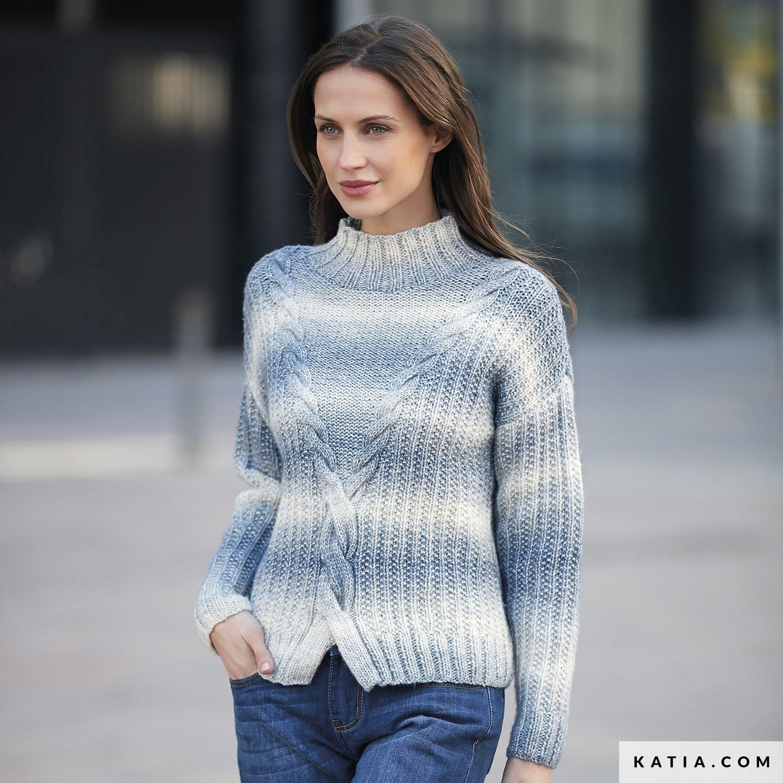 Merino Trui Dames.Trui Dames Herfst Winter Modellen Patronen Katia Com