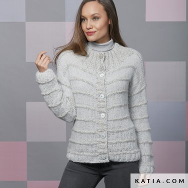 pattern knit crochet woman jacket autumn winter katia 6092 36 p