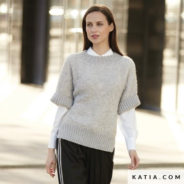 pattern knit crochet woman sweater autumn winter katia 6092 29 p