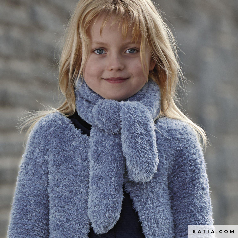 écharpe Enfant Automne Hiver Modèles Patrons