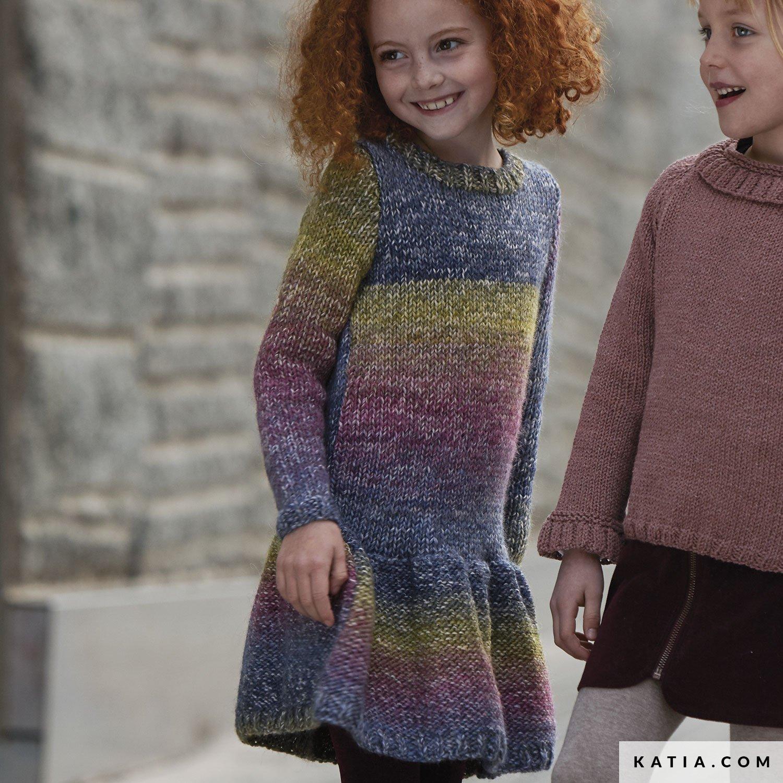 7ee4106a0409e4 patroon breien haken kinderen jurk herfst winter katia 6099 20 g