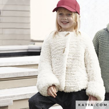 pattern knit crochet kids jacket autumn winter katia 6099 11 p