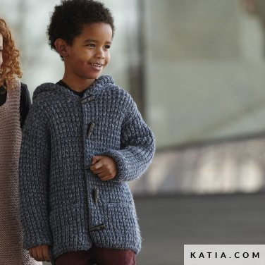 pattern knit crochet kids jacket autumn winter katia 6099 19 p