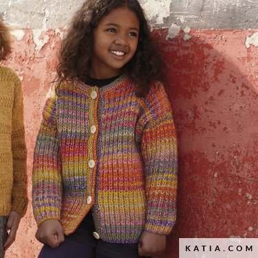 pattern knit crochet kids jacket autumn winter katia 6099 30 p