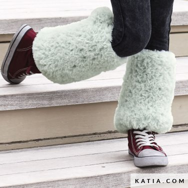 pattern knit crochet kids leg warmers autumn winter katia 6099 10 p