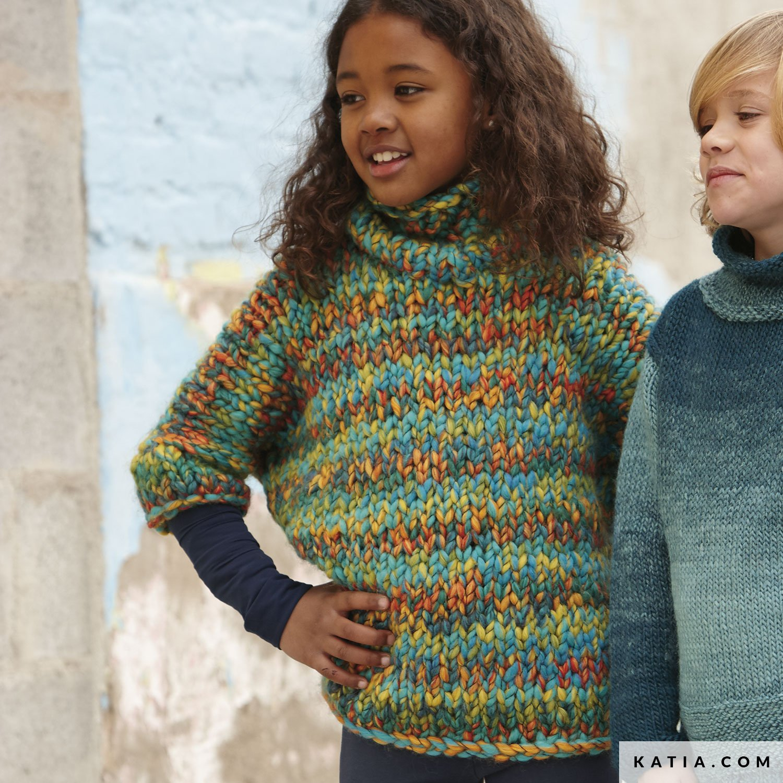 Poncho Kids Autumn Winter Models Patterns Katiacom