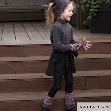 pattern knit crochet kids set autumn winter katia 6099 48 p