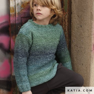 pattern knit crochet kids sweater autumn winter katia 6099 39 p