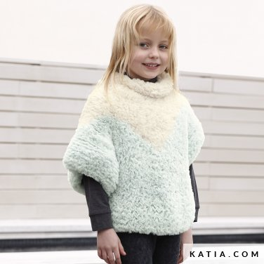 pattern knit crochet kids sweater autumn winter katia 6099 9 p
