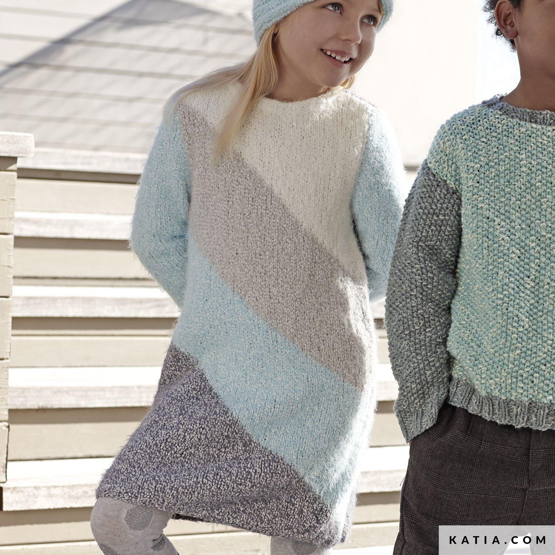 schema maglia uncinetto bambini vestito autunno inverno katia 6099 2 g bee531b728d