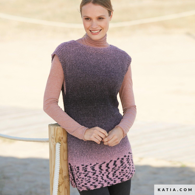 Kleid Damen Herbst Winter Modelle Anleitungen Katia Com