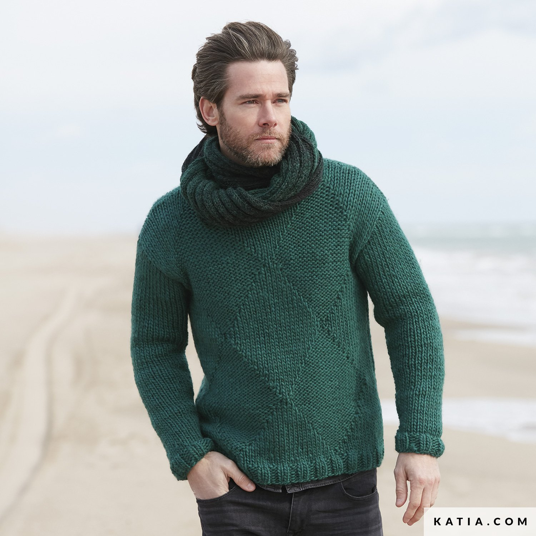 Jersey - Hombre - Otoño / Invierno - patrones | Katia.com