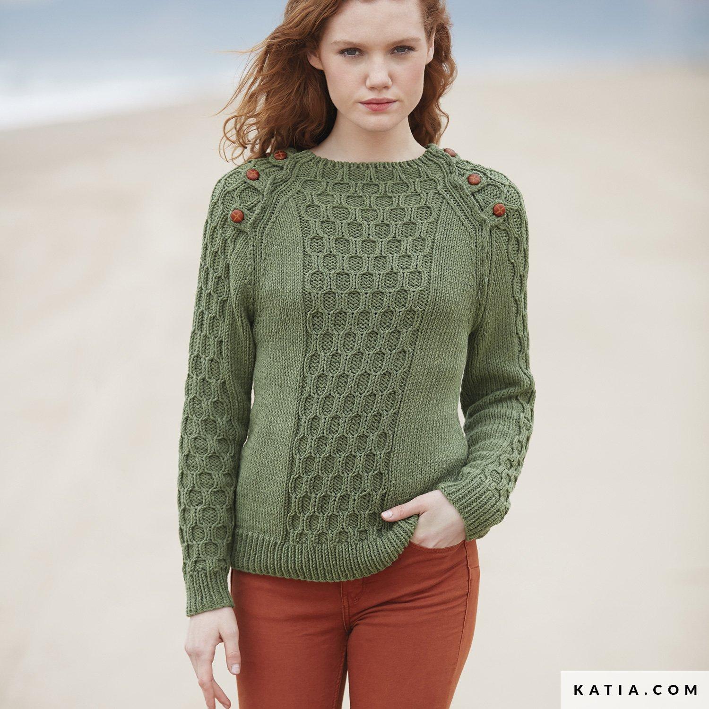 69773d0d73d patron tricoter tricot crochet femme pull automne hiver katia 6100 28 g