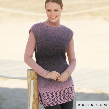 pattern knit crochet woman dress autumn winter katia 6100 55 p