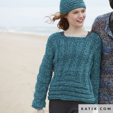 pattern knit crochet woman sweater autumn winter katia 6100 12 p