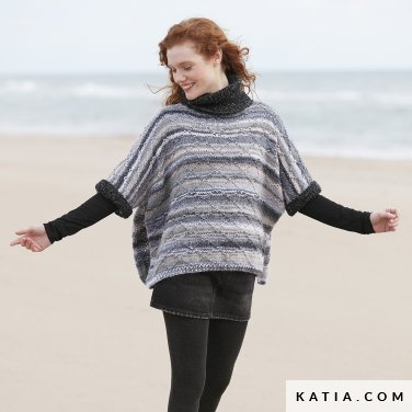 pattern knit crochet woman sweater autumn winter katia 6100 20 p