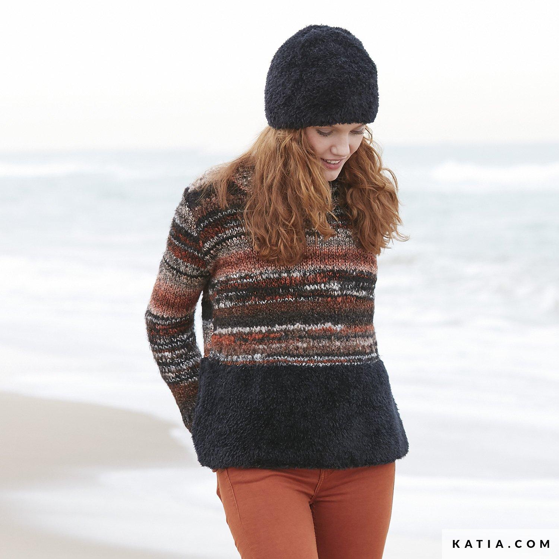 Sweater Woman Autumn Winter Models Patterns Katiacom
