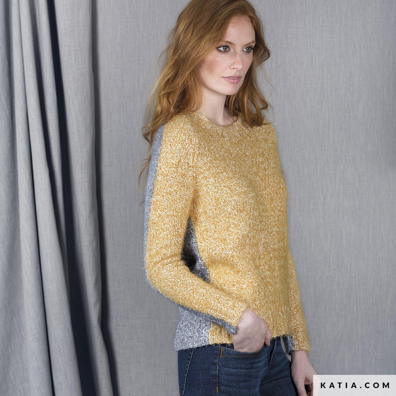 patron tejer punto ganchillo mujer jersey otono invierno katia 6101 9 g 4fcb2d7a51f7