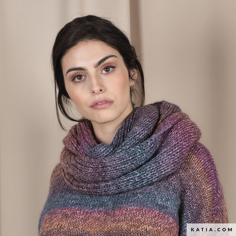 Écharpe - Femme - Automne   Hiver - modèles   patrons   Katia.com aca30441e51