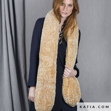 pattern knit crochet woman scarf autumn winter katia 6101 13 p