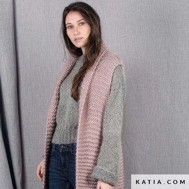 pattern knit crochet woman sweater autumn winter katia 6101 15 p