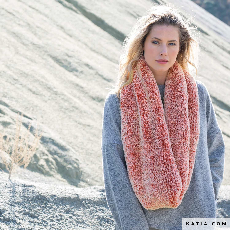 snood katia jumbo color 100. patron tricoter tricot crochet femme col  automne hiver katia 6102 50 g 1d6ce6f7539