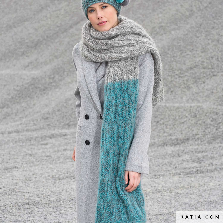 Écharpe - Femme - Automne   Hiver - modèles   patrons   Katia.com 8d1561520a0